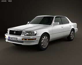 3D model Lexus LS XF10 1989