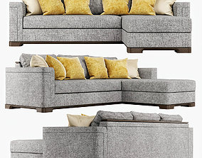 3D model Sofa Perry Sectional Middle