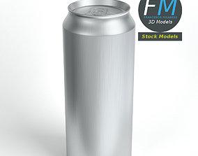 Tall closed soda can 3D model