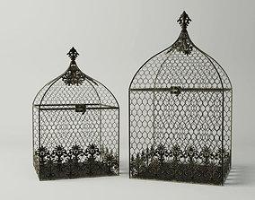 Square Birdcages 3D model