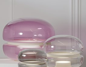Brokis Macaron Table Lamps 3 Different Size 3D model