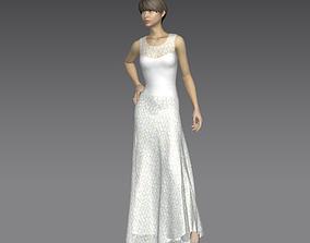 Bridal Dress 3D model