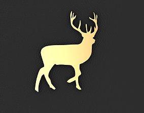 Buck charm 3D printable model