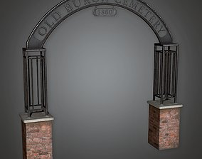 CEM - Cemetery Sign - PBR Game Ready 3D model