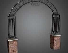 3D asset Cemetery Sign CEM - PBR Game Ready