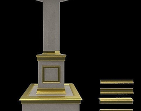 Column with moundings 3D model designs