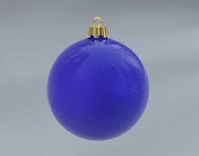 3D model Blue christmas ball