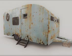 3D model old trailer