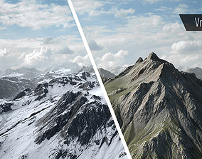 3D model VR / AR ready Mountain Summer and Winter textures