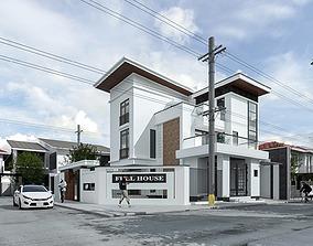 modern animated Exterior House design 3d model
