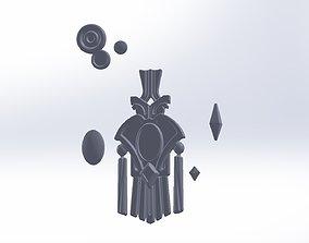 Final Fantasy XIV Graha Pendant Printable Assembly