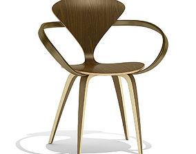 Cherner Wood base chair 3D model