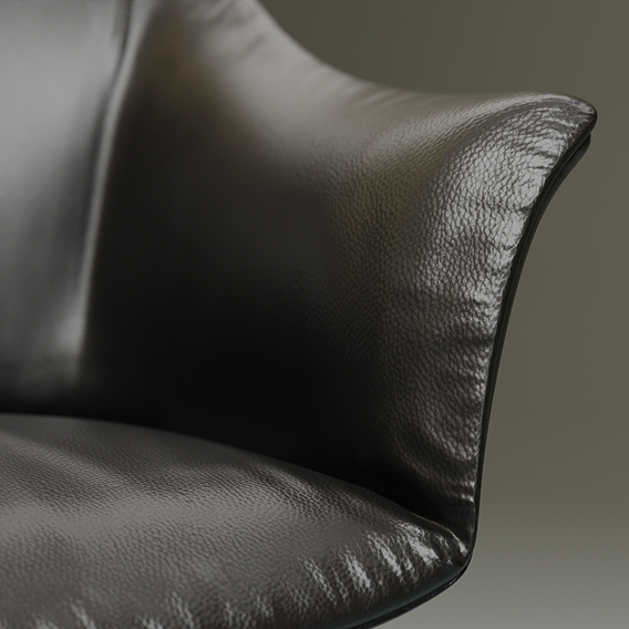 Leather chair post production