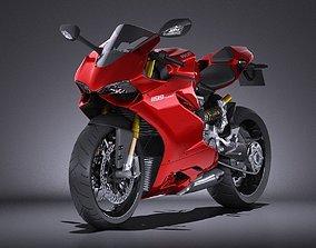 3D model HQ LowPoly Ducati 1199 Panigale 2012