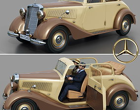 3D Mercedes-Benz 170V Cabrio Saloon 1936