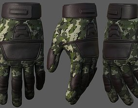 low-poly Gloves military combat soldier armor scifi 2