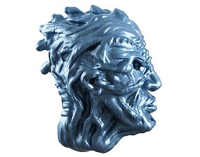 3D printable model fantasy head character game