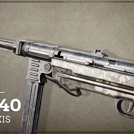 World War II / Axis First Person Asset MP40 Desert