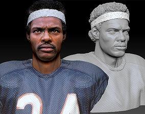portrait Walter Payton NFL Textured 3DBust