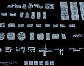Sci-Fi Greeble Kitbash 3D