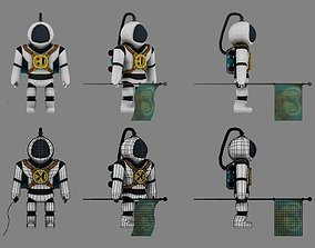 3D asset animated Astronaut