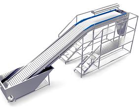 3D asset Plastic Modular Inspection Elevator