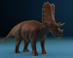 Triceratops Rigged Blender Low-Poly 3D model