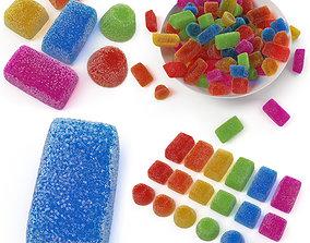 Sugar Gumdrops 3D asset