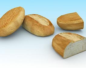 Baguette 3D asset