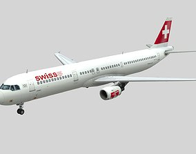 low-poly Lowpoly A321 Airplane 3D Model