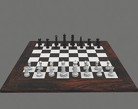 lp Chess Set Game-Ready 3D asset