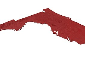 3D printable model Florida Relief Map