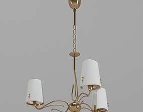 3D White And Gold Sconce Lamp