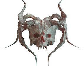 3D character Devil Skull With Horns