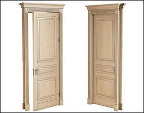 3D Hight classic single wood door