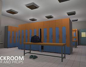 Cloackroom - interior and props 3D model