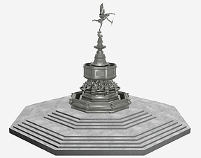 Shaftesbury Memorial Fountain Piccadilly Circus 3D