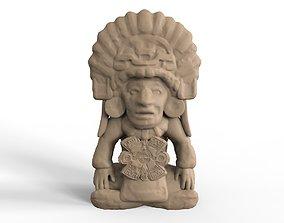 3D print model sculpture Aztec Figurine