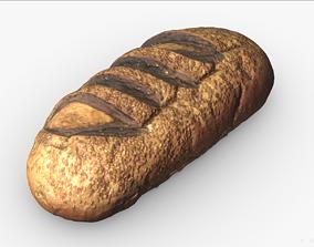 3D Bread Scan PBR model VR / AR ready