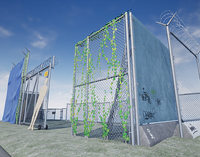 PBR Chain Link Fence 3D model