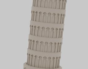 Leaning Tower of Pisa 3D corinthian