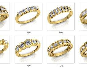 3D print model 11 Woman Rose Diamond Ring