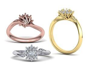 3D print model Own Design Paradise Diamond ring Diana 2