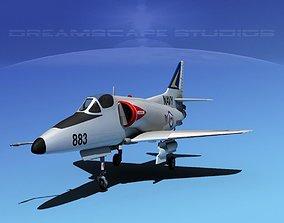 Douglas A-4D Skyhawk V09 RAN 3D model