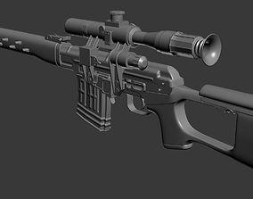 Dragunov - High poly 3D model