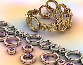 vintag 3D print model 4-link bracelet