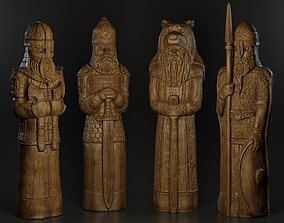 Warrior Totem 3D asset