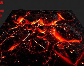 3D model rocks lava