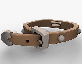 Cartoon belt lowpoly vr ar 3D asset