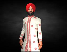 3D asset Sardar ji Character